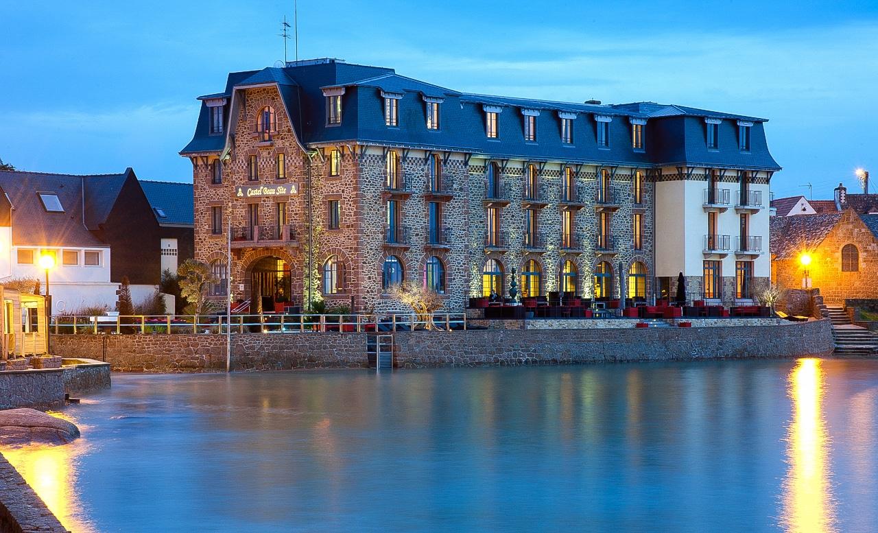 Magnifique vue de l'hôtel du Castel Beau Site