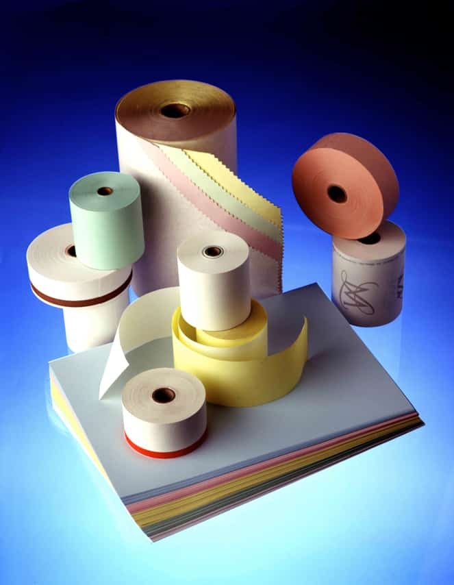 Rubans de papiers colorés