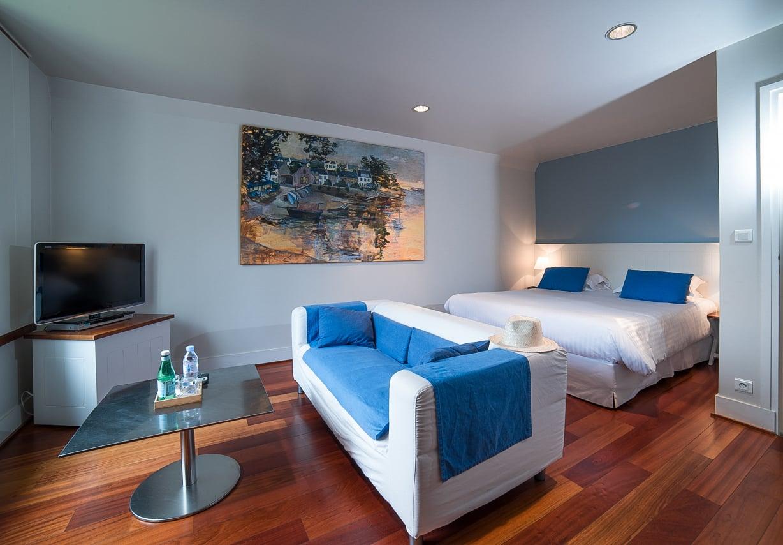 Jolie chambre de l'hôtel Villa Tri Men