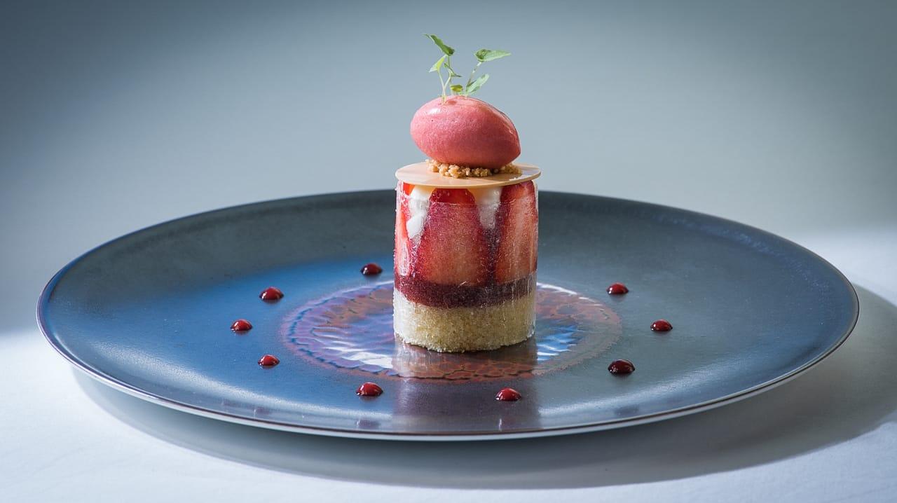 Dessert du menu du restaurant de l'hôtel - Les Trois Rochers