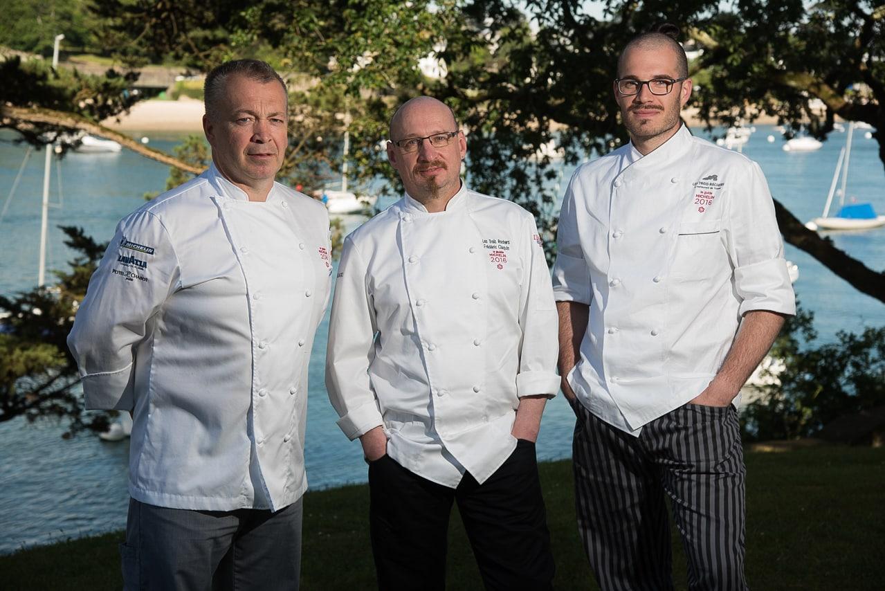 Le trio des chefs cuisiniers du restaurant - Les Trois Rochers