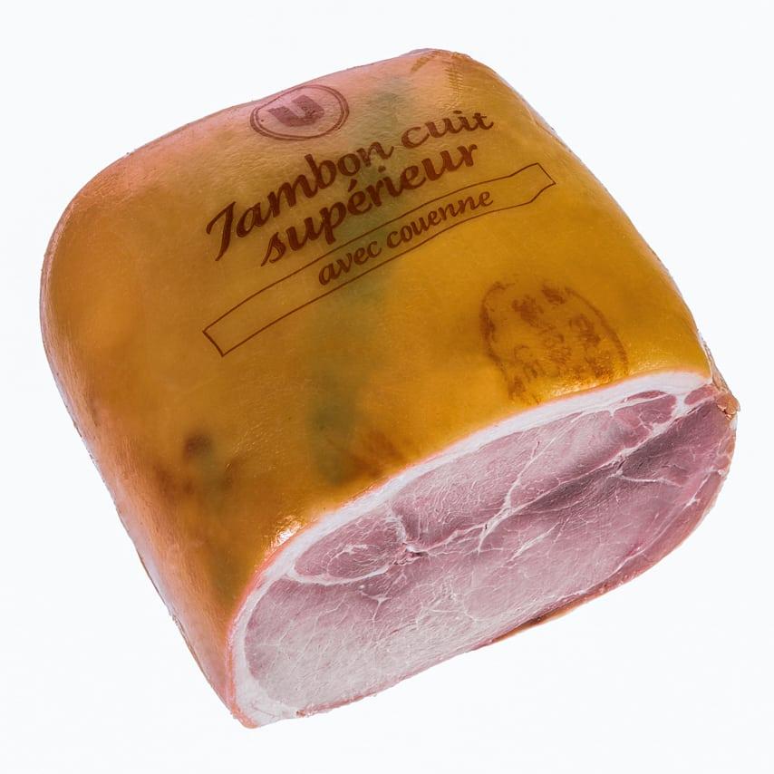 Jambon cuit supérieur avec couenne