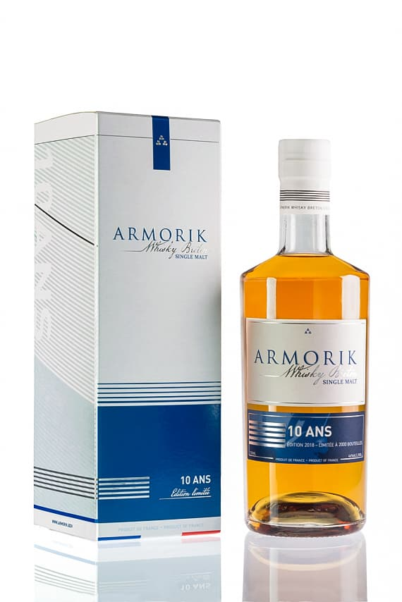 Whisky breton Armorik 10 ans d'âge Single Malt en édition limitée 2018