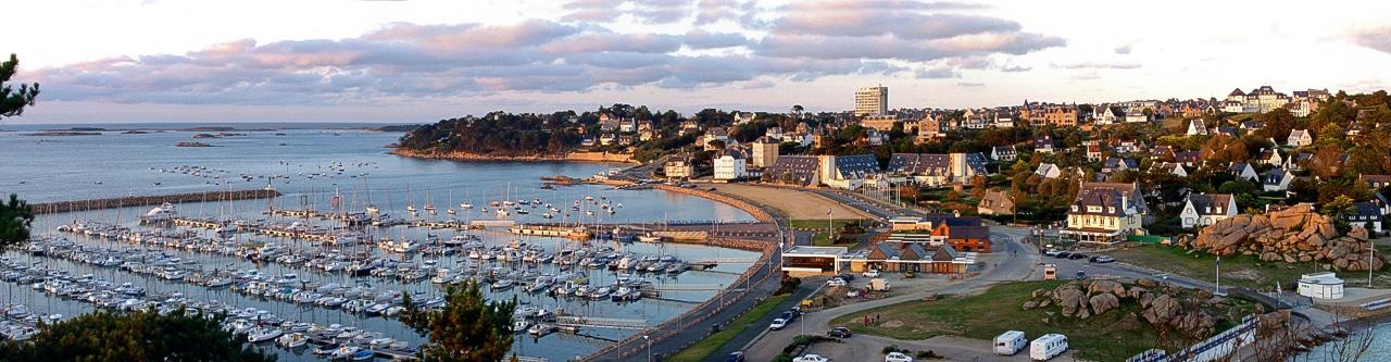 Vue aérienne - Panoramique port de Trébeurden