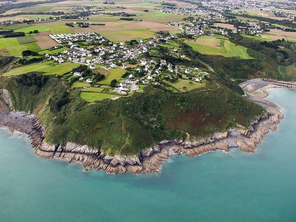 Vue aérienne – côte bretonne
