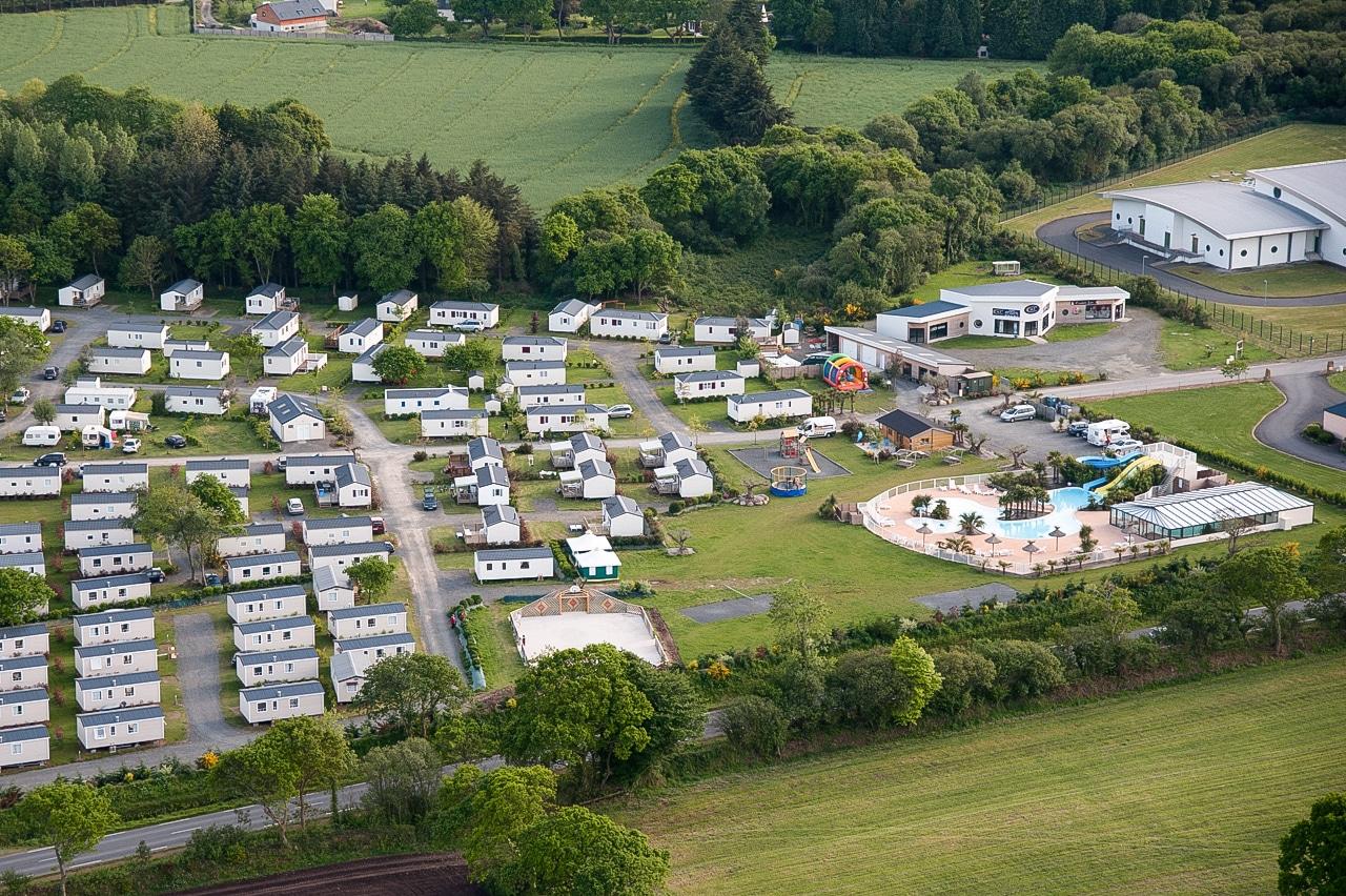 Vue aérienne - Camping Les Alizés 3 étoiles à Lannion