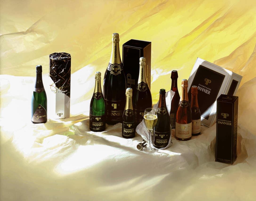 Bouteilles de Champagne Pannier