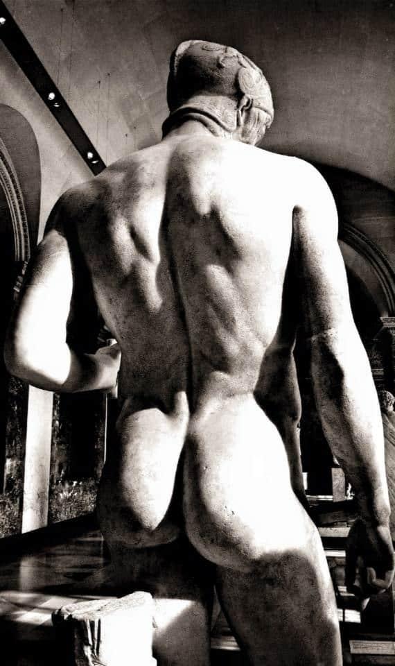 Sculpture homme nu de dos