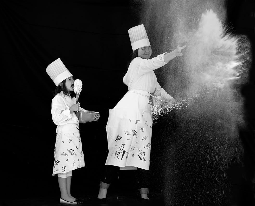Mère et fille en cuisine