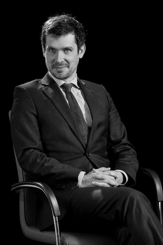 Portrait collaborateur en noir et blanc
