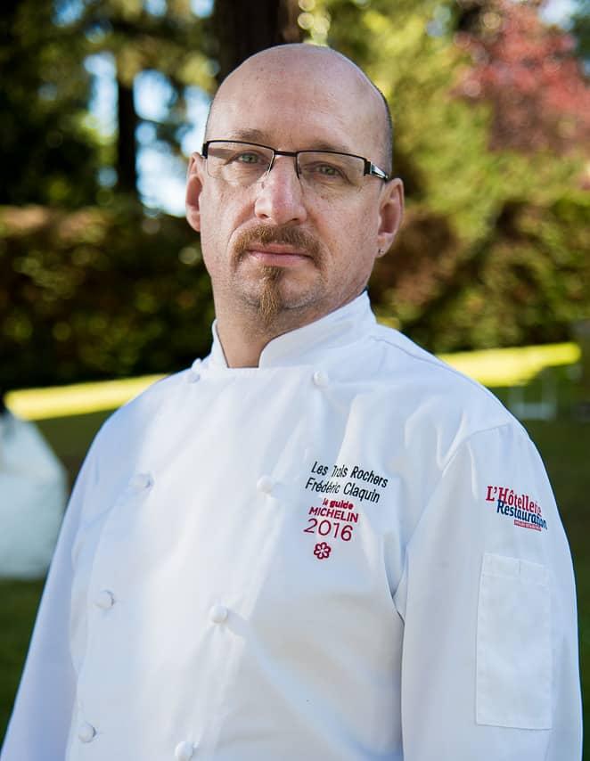 Portrait en couleur du chef cuisinier Frédéric Claquin étoilé d'une étoile au guide Michelin